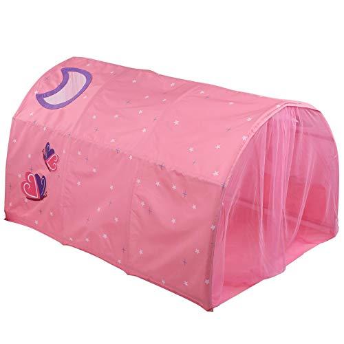 Tienda de campaña para niños, tienda de princesa de dibujos animados, casa de juegos, castillo, tienda de campaña, túnel de arrastre, para juegos de interior al aire libre, menores de 6 años(rosado)