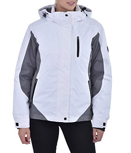 Womens Insulated Waterproof Performance Winter White Ski Jacket