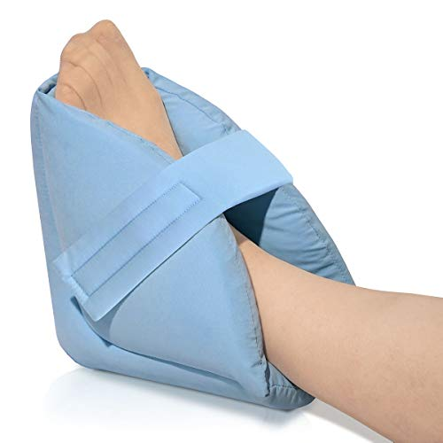 NYOrtho Heel Protectors Cushion Pillows - 1 Pair of Ultra Quilted Thick Soft Antimicrobial Washable