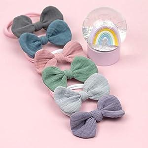 1 Babyschleife Haarband – Farbwahl – weiches Baby Stirnband mit Schleife Musselin – Baby bow – Mummelito handmade…