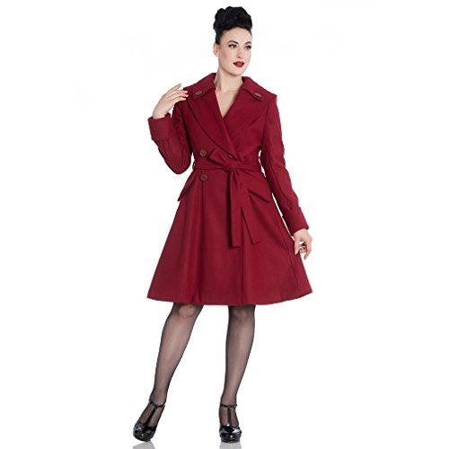 Hell Bunny Vintage mantel - Olga Coat donkerrood