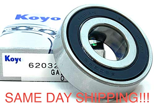 KOYO 6203 2RS Deep Groove Ball Bearings 17 x 40 x 12mm Same Day Shipping !!!