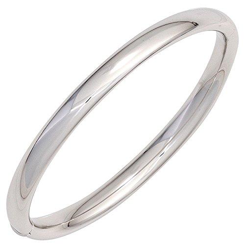 Armband Armreif 57,6mm 925 Silber glänzend oval schlicht Kastenschloss Damen