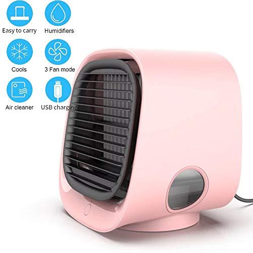 FACAI Mini USB Ventilator Standing Fan Leisester Ventilator Tischventilator Leise Pc Ventilator Stand Fan,Pink-166×152×145MM