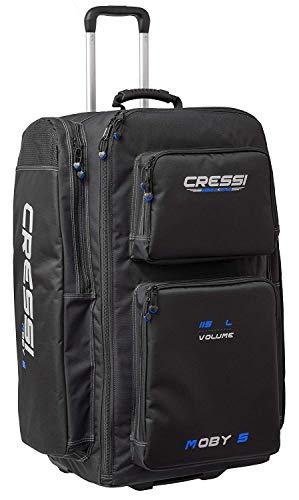Cressi Moby 5, Borsone Sportivo per Atrezzature Subacque Unisex – Adulto, Nero/Blu, 76 x 40 x 28 cm