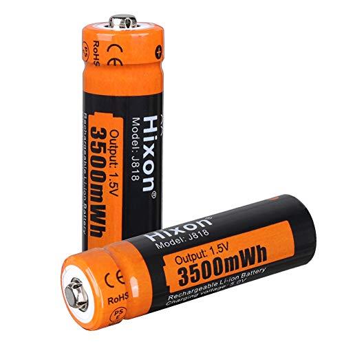 Hixon AA Akku Li-ion wiederaufladbare Batterien 1,5 V 3500 mWh für Xbox Controller Spielzeug Fernbedienung, Set mit 2 Batterien