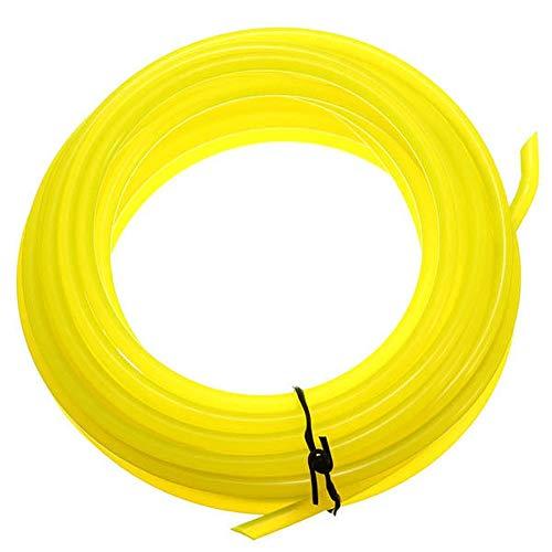 Carrete de Repuesto Fitting Hierba recortadores 5m Universal del Cortador de Cepillo Redondo de Nylon Trimmer Línea Cortador de césped de jardín Herramienta de siega (Color : Yellow, Size : 5m)
