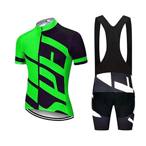 LLYY Traje Ciclismo Hombre Maillot Ciclismo + Pantalon Bicicleta,Ropa de Ciclismo 20D...