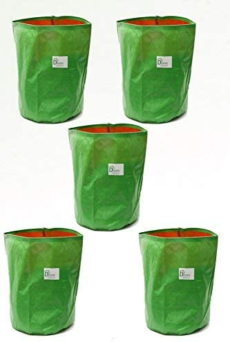 BIO BLOOMS AGRO INDIA PRIVATE LIMITED Plastic Grow Bags, Multicolour, 15 x 15in, 5 Pieces