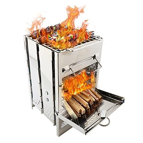 barbecue a carbonella quadrato AIYIFU Griglia Barbecue Quadrata Carbonella Griglia da Barbecue Barbecue Grilia Pieghevole Portatile Buona Ventilazione Ideale per PIC nic e Campeggio e per Il Viaggio