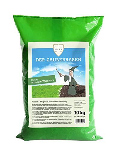 Original Linsor *Zauberrasen* 10kg Hochqualitativer schnellwachsender Rasensamen | Saatgut die ihrem Garten Qualität bietet | Grassamen | Rasen - Gras - Samen | Wunderrasen