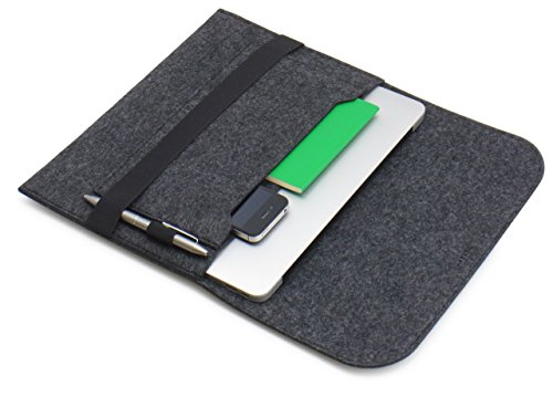 『[NEXARY] MacBook Pro Retina 13 インチ, Air 13インチ, Ultrabook 13.3 インチ フェルト スリム 収納 パソコン インナーケース (13PR チャコールグレー)』のトップ画像