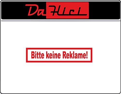 DaHici sticker brievenbus Gelieve geen reclame durchmesser 5cm rood