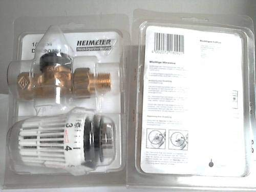 Heizkörperthermostat. Ventil und Thermostatkopf (Messing), 1/2 Zoll Durchgang