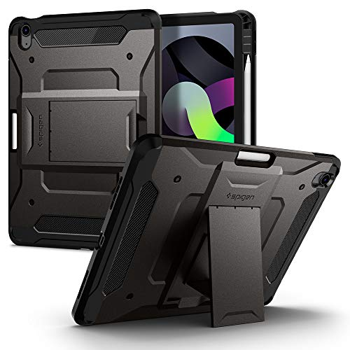 New Spigen Tough Armor Pro Designed for iPad Air 4th Generation 10.9 inch Case Cover with Pencil Holder (2020) - Gunmetal