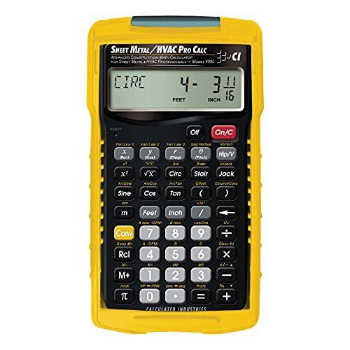 Calculated Industries 4090 Sheet Metal/HVAC Pro Calc Calculator,...