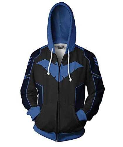 Jonikow Cosplay Comics 3D Printed Hoodie Costume Mens Pullover Sweatshirt Jacket (L, 1)