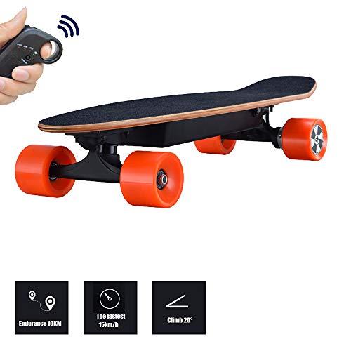 LHR Elektrische Skateboards, Allrad-City-Elektro-Skateboards Scooter Mit Einem Antrieb Street Brush Scooter Mit Fernbedienung Geeignet Für Teenager Und Erwachsene Skateboarder