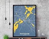 MG global Potsdam Germany Poster Color Hometown City Print