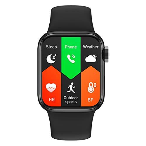 XYZK M16 Plus Smart Watch Teléfono 1.75 Pulgadas 44Mm Correa 3D Dinámico UI Bluetooth Llamada Música Música Monitoreo De Ritmo Cardíaco Teléfono Pulsera Deportiva Inteligente para Android iOS,A