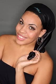 LittleBlack Scarf - Protect Hair While Sleeping, Grow Long Hair, Get Shinier Hair, Get Healthier Hair (Original, Black)