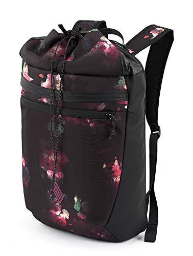 Nitro Fuse Rucksack leichter modischer Daypack exklusiver Side &Toploader in Gymbag Optik , Black Rose, 44x29x20cm / 24L