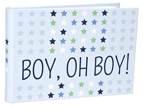 Malden International Designs Boy Oh Boy Baby Brag Book, 1-Up, 40-4x6, Blue
