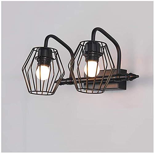 Carl Artbay Shuai Beautiful lamp/ * LED-badkamermeubel spiegelkast afbeelding Light 2 / 3head retro wandlamp [energieklasse A ++] (kleur: warm licht 38 cm / 2 kop)