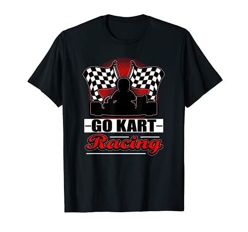 Go Kart Racing Funny Red Silhouette T-Shirt