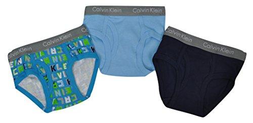 Calvin Klein - Pack de 3 calzoncillos para niño, 100% algodón, 2/3 años (2 variedades)