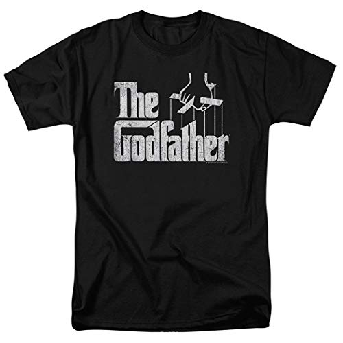 Popfunk The Godfather Movie Logo T Shirt & Exclusive Stickers (X-Large),Black