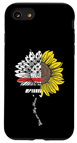 iPhone SE (2020) / 7 / 8 My Hero Sunflower Firefighter Thin Red Line Fireman Gift Case