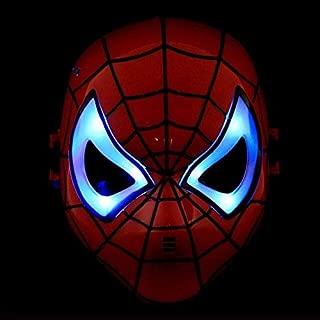 PKRISD The Avengers Mask Batman Mask Superhero Masks Lighted Kids Spiderman Iron Man Hulk Cartoon Party Mask for Children's Day Cosplay