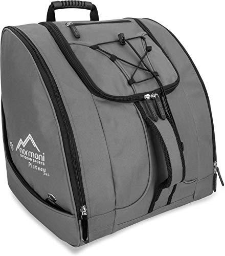 normani Outdoor Sports Skischuhtasche Skistiefeltasche mit Helmtasche und 5 seperaten Seitentaschen und Rucksackfunktion Farbe Anthrazit