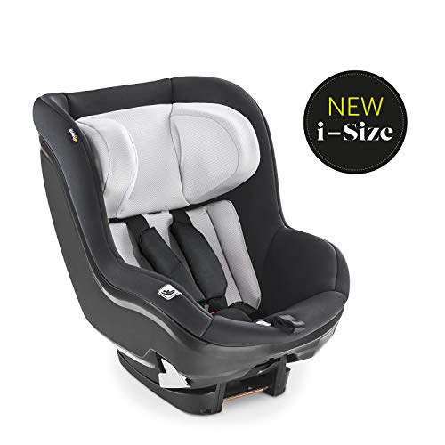 Hauck iPro Kids i-Size Reboard Kindersitz ab Geburt bis 18 kg, mitwachsender Baby Autositz, entgegen der Fahrtrichtung, mit Neugeborenen Einlage, kompatibel mit Isofix Basis, schwarz