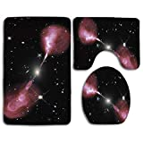 huatongxin Non-Slip 3 Piece Soft Hercules A Galaxy Bath Rugs Set Washable Bathroom Rug + Contour Mat + Toilet Seat Cover,Floor Rug for Doormats Tub Shower Room Decorations