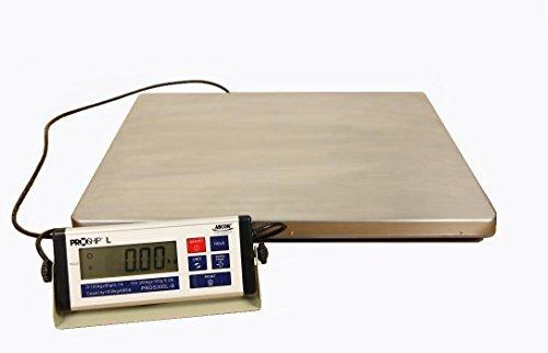 Báscula digital grande de 56 x 46 cm, 300 kg con incrementos de 50 gramos, peso industrial, con características únicas, peso dinámico, salida USB, pantalla extraíble