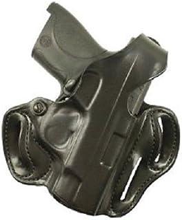 DeSantis Thumb Break Fits Sig P320/250 Leather Right Hand Scabbard Belt Holster, Black