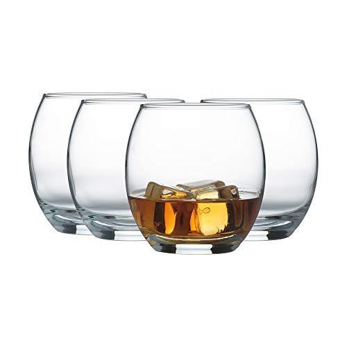 Ravenhead, Mode, 4 Bicchieri a Forma bombata, Trasparenti, capacità 38cl