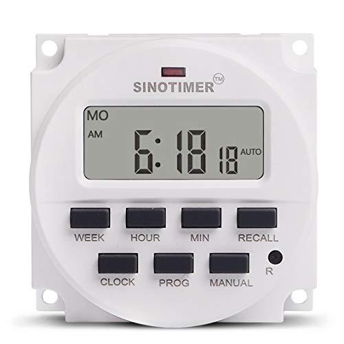 SINOTIMER 5V Wöchentlich 7 Tage Programmierbare digitale Zeitschaltuhr Timer-Steuerung Countdown Recall Abbrechen für Elektrogerät