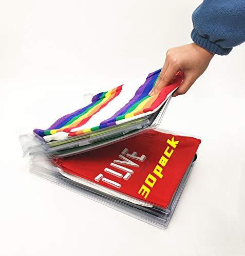 Nifogo Organizador de Armario el hogar Estantería Plegable Estante de Almacenamiento Organizador Plegable Apilamiento Camisas Camiseta Folder (30 Pack)