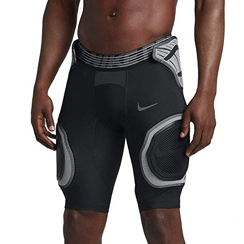 Nike Mens Pro Hyperstrong Targeted Impact Compression Hardplate Short Girdle Black Medium