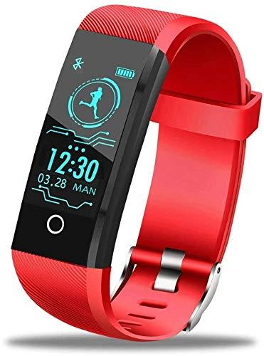 BNBN HXM-00 Smart Watch Deportes Smart Pulsera Monitoreo Podómetro Información Call Recordatorio Fitness Watch Masculina Pantalla de Color de Alta definición (Color : C)