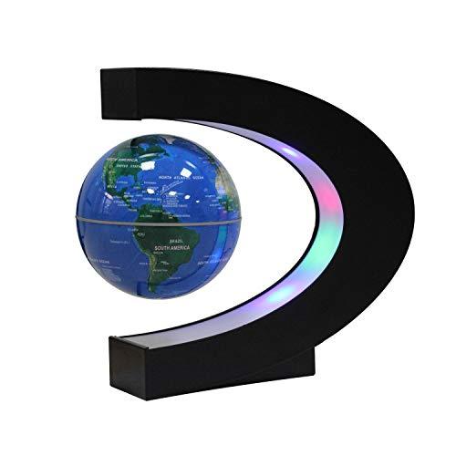 Ardermu Globo Galleggiante a levitazione Magnetica con Forma a C - Mappa del Mondo Globo per Regalo di apprendimento