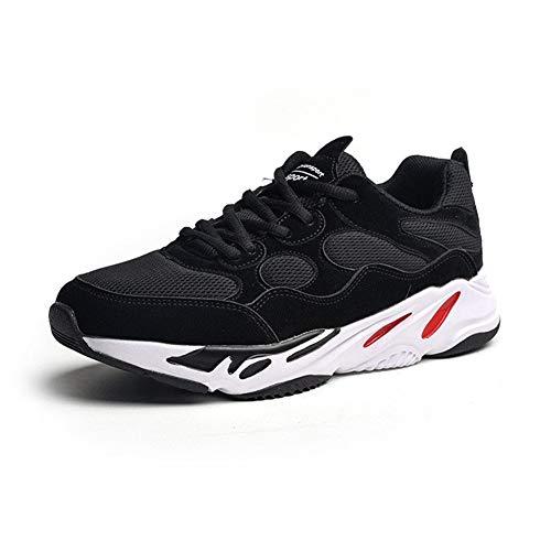 CXQWAN Chaussures de Sport décontractées pour Homme, légères, antidérapantes, résistantes à l'usure, adaptées pour la Marche, la Gym, Le Jogging, Le Fitness, Le Travail, Noir, 39