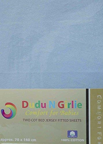 Dudu N Girlie - Sábana bajera ajustable para cuna (100% algodón, 70...