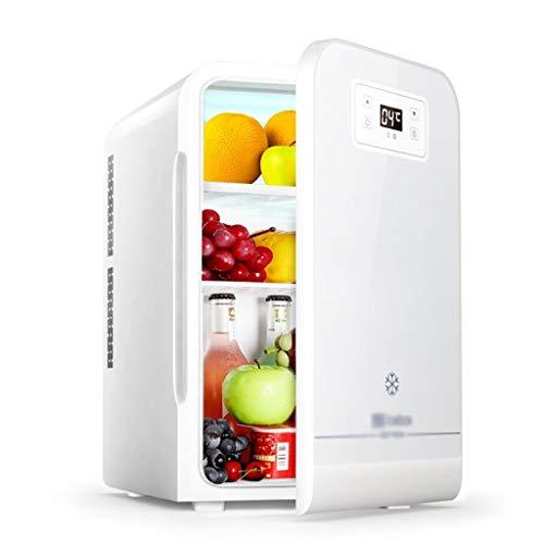20L Mini Refrigerador Frigorífico Pequeño Hogar Residencia De Una Sola Puerta del Refrigerador Refrigerador Coche Portátil De Doble Uso del Refrigerador (Color : Silver, Size : 28 * 33 * 45cm)