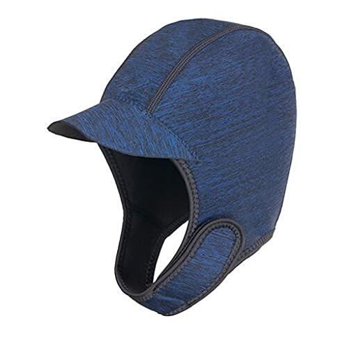 Sombrero de buceo de neopreno de 2 mm con ala para mujeres y hombres de alta elasticidad para buceo, gorro de buceo con protección UV térmica impermeable y de secado rápido