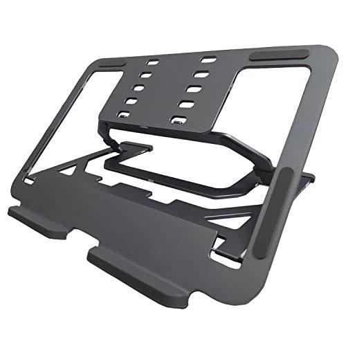 Lotusland Case Soporte del Ordenador portátil, Soporte Ajustable para Escritorio, portátil Plegable de Aluminio de Subida (Nivel 5 Actualización, Grey)