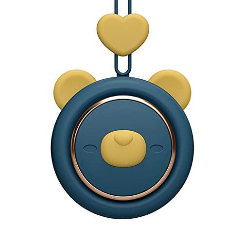 CeFoney Mini ventilador de cuello sin aspas para colgar manos libres, ventilador de carga USB portátil, ventilador de 3 velocidades con cuerda ajustable de 30 cm para colgar en casa, oficina, viajes